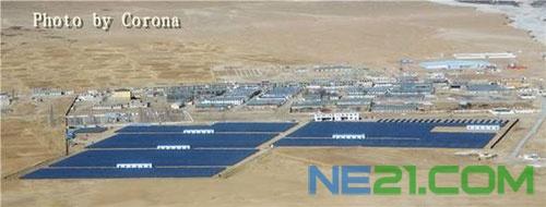 光伏发电系统产生的电能经逆变和升压接入羊八井110kv变电站35kv
