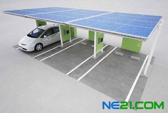 丰田公司太阳能光伏汽车充电站
