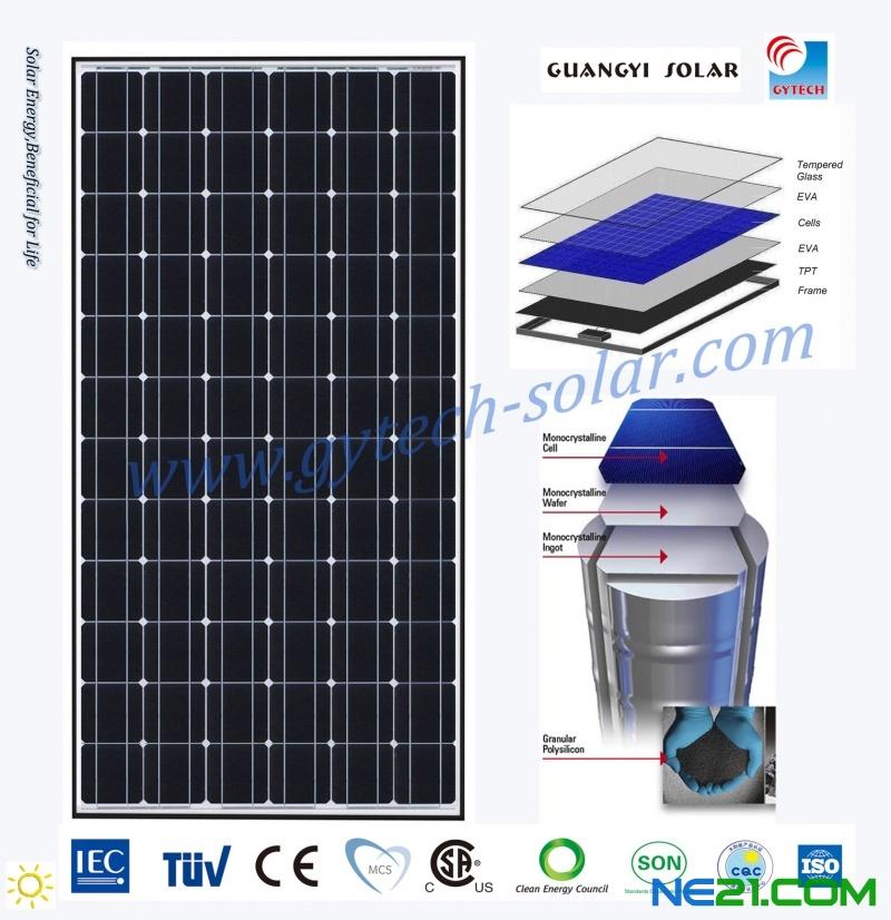 太阳能电池板单晶200瓦