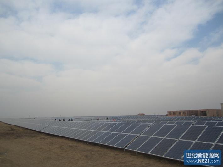 佳讯光电泗洪25mw太阳能光伏电站并网成功