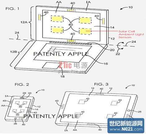 苹果新专利将太阳能电池传感器放进屏幕