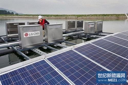 韩国合计建成6mw水上光伏电站,发电量采用无线监控