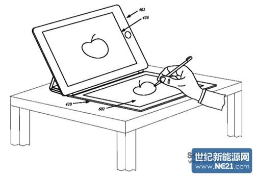 苹果总部手绘图