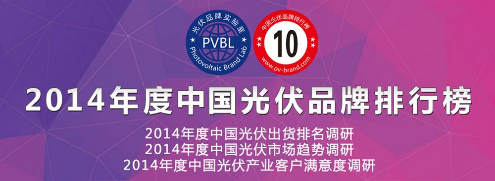 2014年度中国光伏品牌排行榜(调研)活动