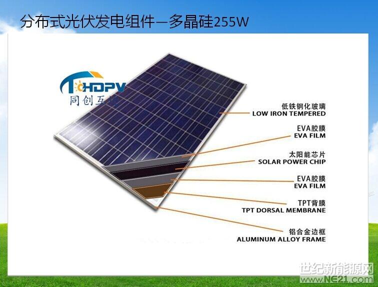 分布式光伏发电组件-多晶硅255W