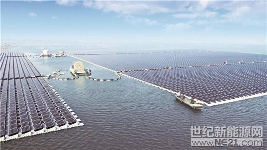 安徽淮南潘集区40MW水面漂浮光伏电站