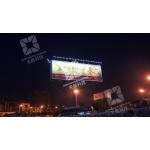 路边户外T型结构广告牌照明