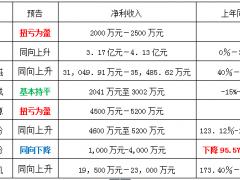 9家光伏相关企业半年预报(图表)
