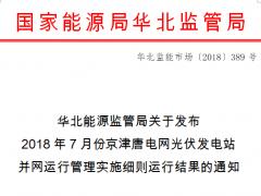 7月京津唐电网光伏电站并网运行管理运行结算汇总表