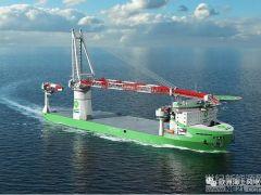 欧洲最先进的海上风电安装船是中国造的