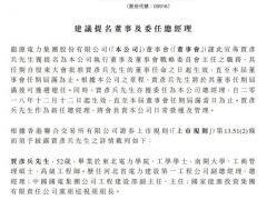最新!龙源电力提名贾彦兵担任总经理等职
