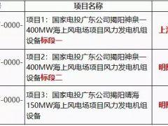 国家电投550MW海上风电项目开标:上海电气、明阳智能中标!