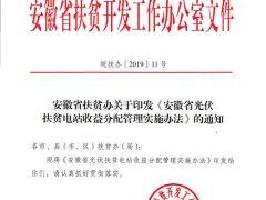 《安徽光伏扶贫收益分配管理办法》(新版)