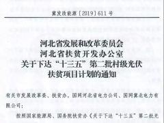 """348.6MW!河北省下达""""十三五""""第二批光伏扶贫项目计划"""