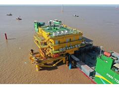 亚洲首创:海洋水建成功平移安装九思海上风电升压站