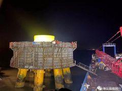 莆田石城海上风电场新年首座承台浇注完成 已完成7座