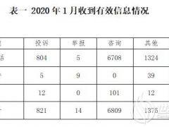 2020年1月12398能源监管热线投诉举报处理情况通报