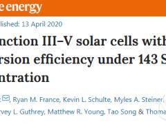 六结III–V太阳能电池,效率高达47.1%