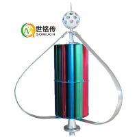 300W垂直轴S型风机路灯风力发电机12V24v风力发电家用