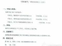 国网(宁波)2020-2022年光伏组件供应商中标结果公示