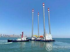 国内首座55m水深海上自升式勘探试验平台在青岛交付!