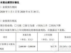 风电铸件订单增加 佳力科技2020年上半年预计净利2600万至3000万
