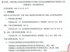 京能格尔木四、五期50MW光伏电站及润峰格尔木20MW光伏电站运维服务中标候选人公示