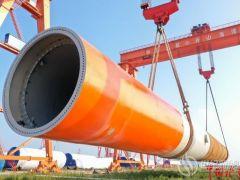 舟山首根海上风电单桩下线投产