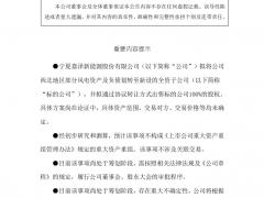 嘉泽新能关于筹划出售西北地区部分风电资产的提示性公告