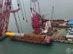 江苏如东国信H2#35万千瓦海上风电项目首桩圆满完成