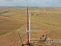 华能阿巴嘎旗特高压外送风电项目完成风机吊装