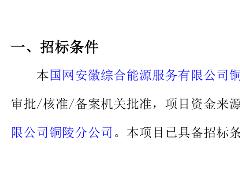 国网安徽综能多站融合储能项目采购