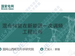 国网山西电科院郭强:混合储能在新能源一次调频的工程应用