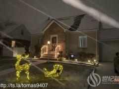 特斯拉车主分享太阳能屋顶在暴雪中的表现