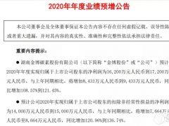 2020年金博碳素净利润1.62亿--1.72亿,增加108.57%--121.45%