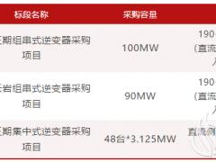 广州发展2021年第一批逆变器采购项目招标
