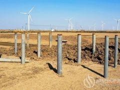 """江苏省沿海开发集团:灌云洋桥200MWp""""渔光一体""""光伏发电项目试桩完成"""